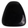 Glass Bead 23x24mm Drop Opaque Jet - Strung